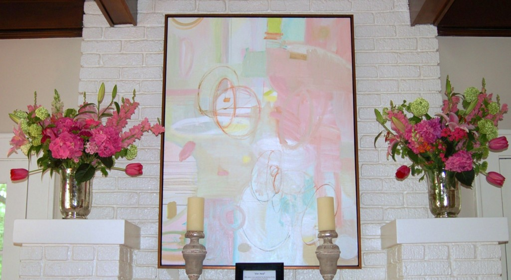Catherine M. Austin Interior Design/ Pink House/ Artist Kate Long Stevenson