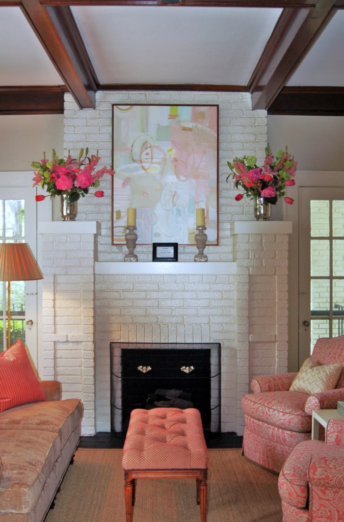 Catherine M. Austin Interior Design/ Pink House Living Room