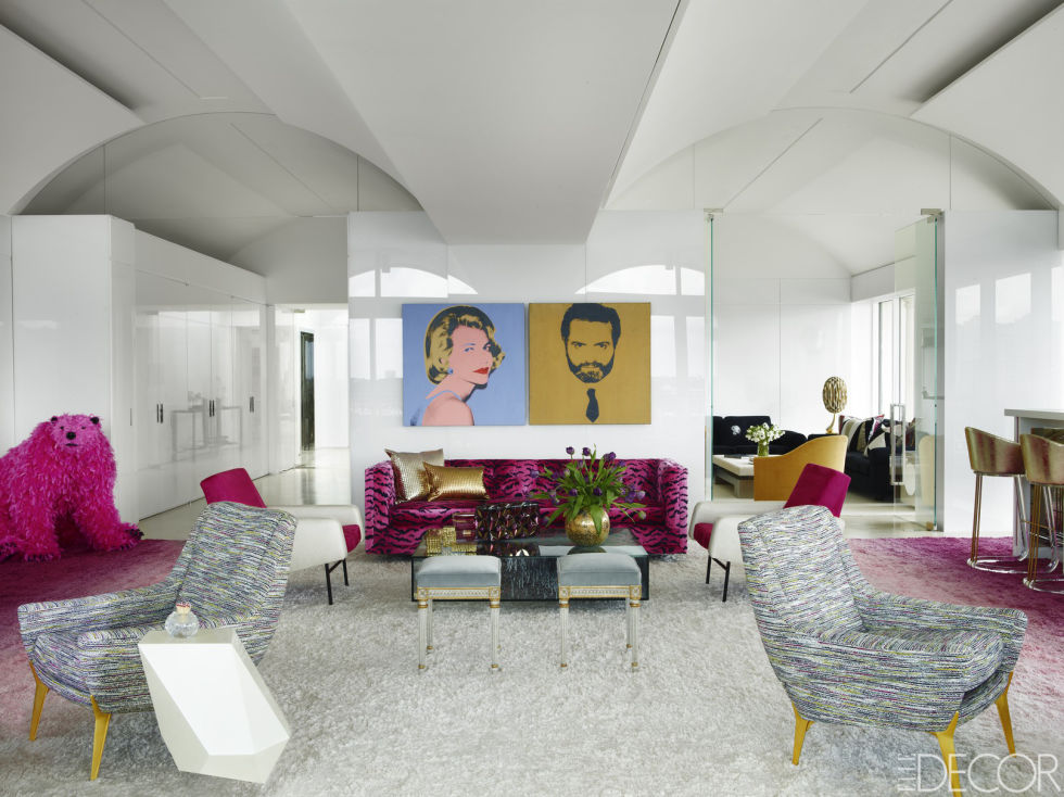 Thinking pink palm beach penthouse of lizzie and jonathan for Design thinking tisch