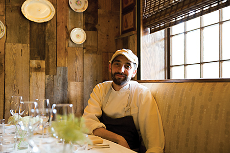 Scenes and food from Heirloom restaurant in Charlotte NC.  Chef, Clark Barlowe.  Food - Blueberry and Lemon - Blueberry and Lemon buttermilk cake, liquid nitrogen blueberry ginger ice-cream, Childress Starbound and honey reduction, Lemon marscarpone cream and Lemon thyme Tuile.  Salem Hills Beef Assomer - Sunburst Farm Tomato Salad, Sunny Quail Farm Quail Egg, Feba Farm Cress Blossoms, Beef Jus. Shot on May 30th 2014. Photographs by Peter Taylor.