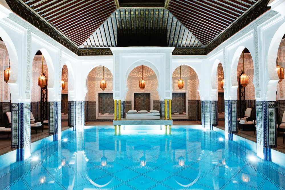 La+Mamounia+Marrakech+Spa+Pool+Hammam+2015+
