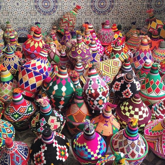 moroccan-berber-vintage-colourful-colorful-wool-pots-baskets